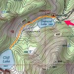 US Forest Service Map Cliff Lake Trail 100